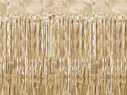 Lietutiņa aizkars, zelta, matēts, 90x250 cm