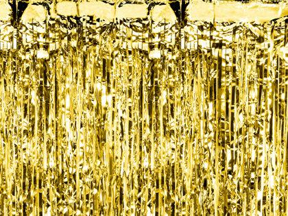 Lietutiņa aizkars, zelta, 90x250 cm