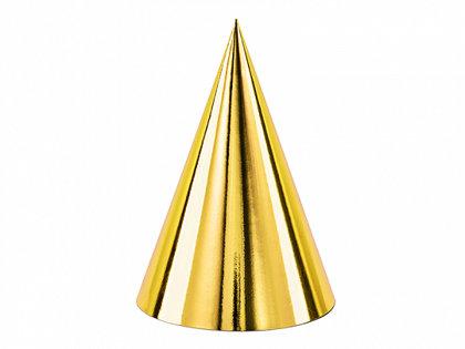 Papīra cepures zelta krāsā, 6 gb