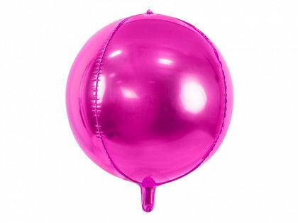 Folija balons, apaļš, 40 cm, fuksijas krāsa