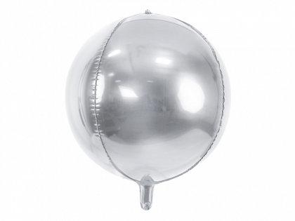 Folija balons, apaļš, 40 cm, sudraba krāsa