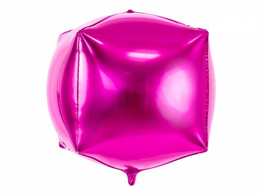 """Folija balons """"kubs"""", 35x35x35 cm, fuksijas krāsa"""