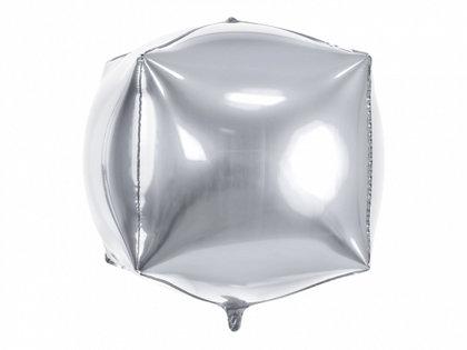 """Folija balons """"kubs"""", 35x35x35 cm, sudraba krāsa"""