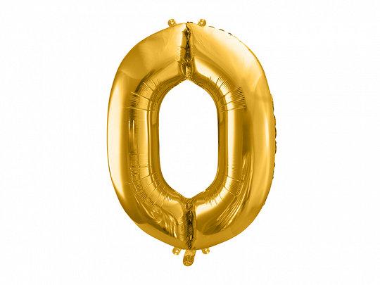"""Folija balons """"0"""", 86 cm, zelta krāsa"""