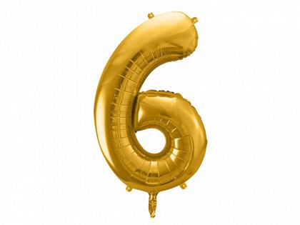 """Folija balons """"6"""", 86 cm, zelta krāsa"""