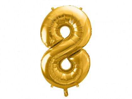 """Folija balons """"8"""", 86 cm, zelta krāsa"""