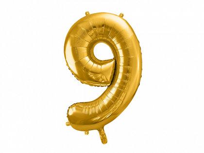 """Folija balons """"9"""", 86 cm, zelta krāsa"""