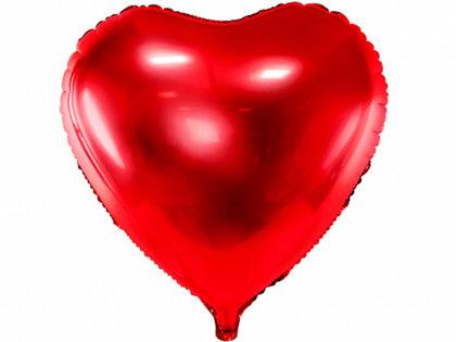 """Folija balons """"sirds"""", 61 cm, sarkanā krāsa"""