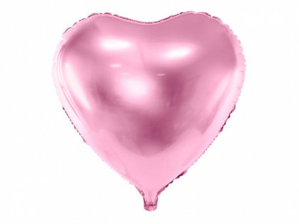 """Folija balons """"sirds"""", 45 cm, gaiši rozā krāsa"""