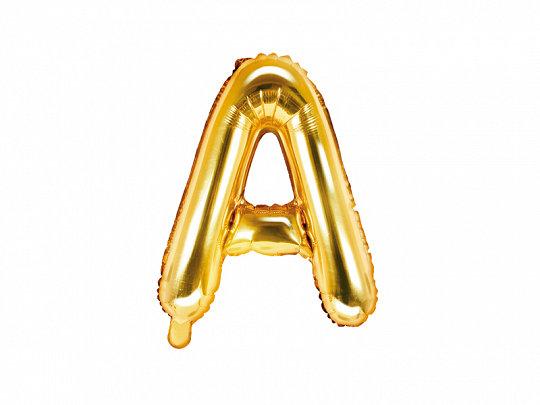 """Folija burts """"A"""", 35 cm, zelta krāsa"""