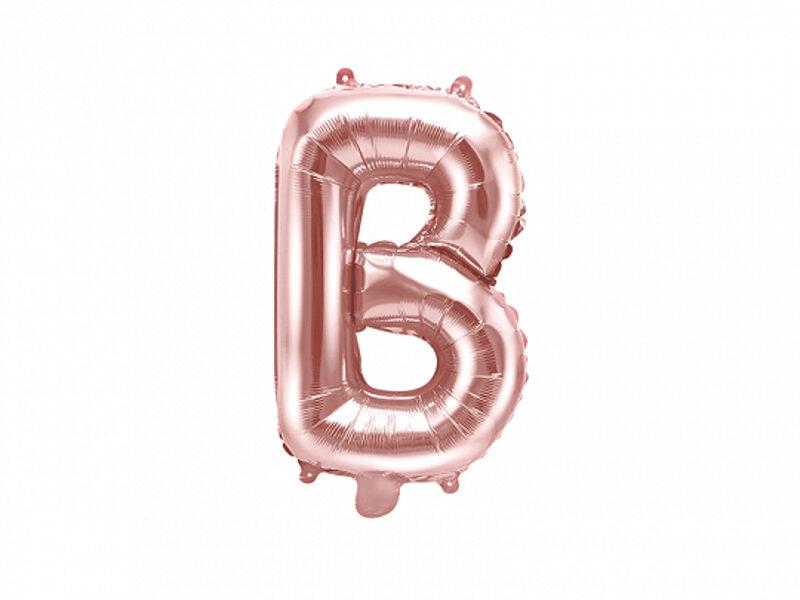 "Folija burts ""B"", 35 cm, rozā zelts"