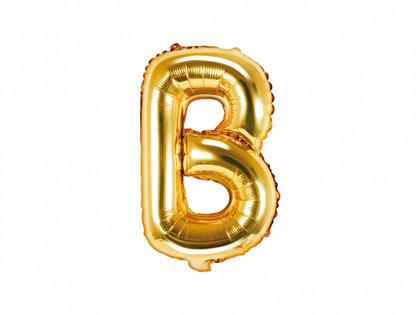 """Folija burts """"B"""", 35 cm, zelta krāsa"""