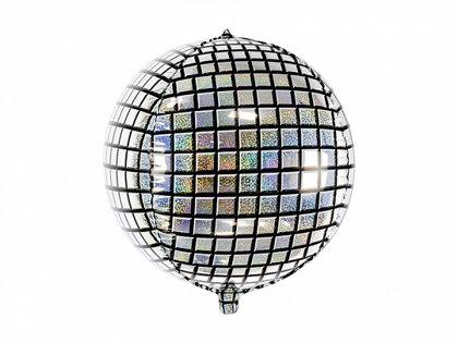 "Folija balons ""Disko bumba"", apaļš, 40 cm"