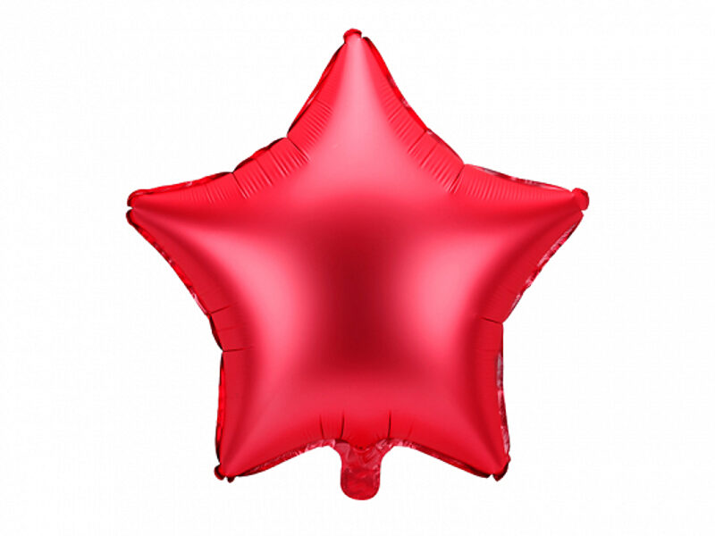 """Matēts folija balons """"zvaigzne"""", 48 cm, sarkanā krāsa"""