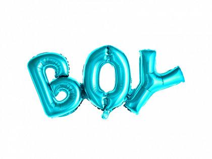 """Piepūšamais folija uzraksts """"BOY"""", zilā krāsa, 67x29cm"""