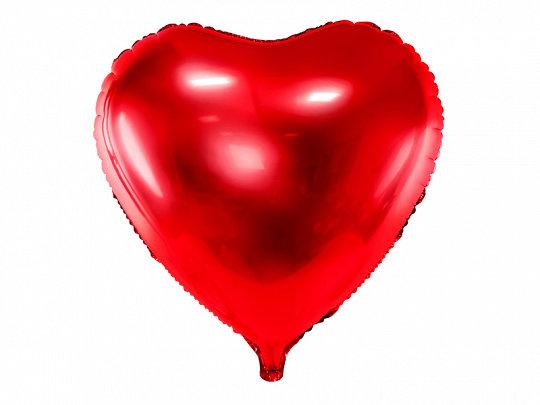 """Folija balons """"sirds"""", 45 cm, sarkanā krāsa"""