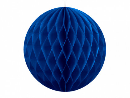 Papīra bumba, tumši zilā, 20 cm