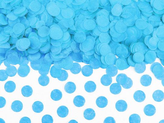 Papīra konfetti aplīši, gaiši zilā krāsā, 15 g