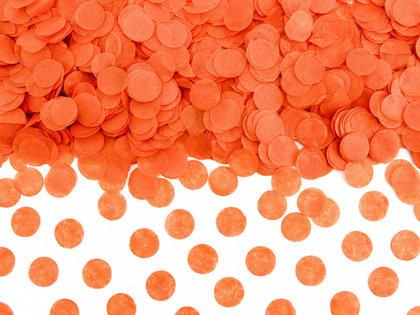 Papīra konfetti aplīši,oranžā krāsā, 15 g