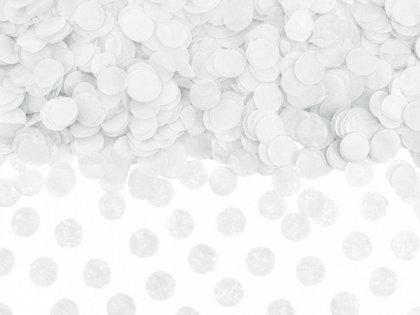 Papīra konfetti aplīši, baltā krāsā, 15 g