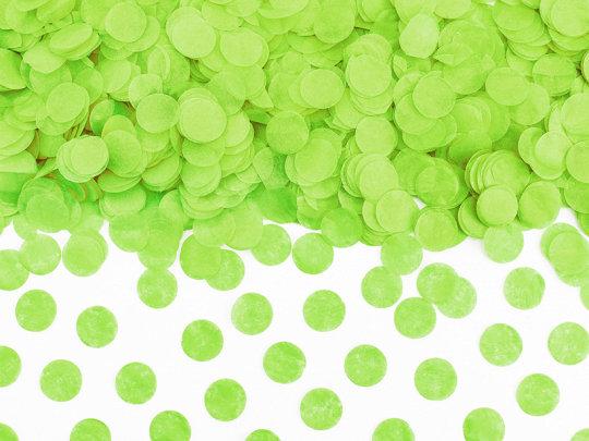 Papīra konfetti aplīši, zaļā krāsā, 15 g