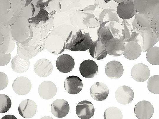 Folijas konfetti aplīši, sudraba krāsā, 15 g