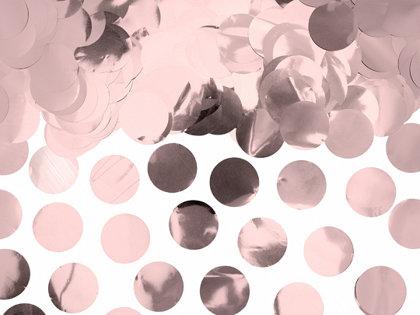 Folijas konfetti aplīši, rozā zelta krāsā, 15 g