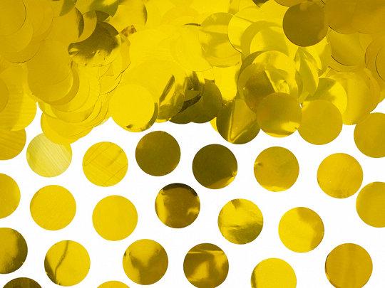 Folijas konfetti aplīši, zelta krāsā, 15 g