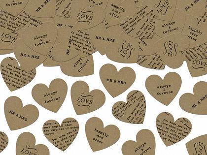 Konfetti sirsniņas formā