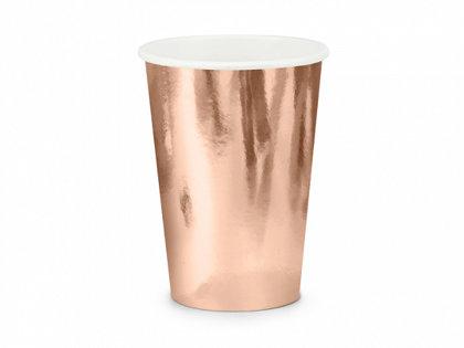 Glāzes, rozā zelts, 6 gb., 220 ml