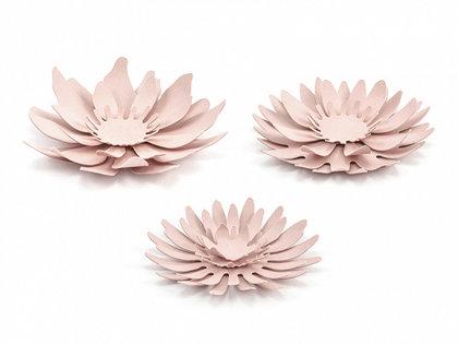 Papīra ziedi pūderu rozā krāsā