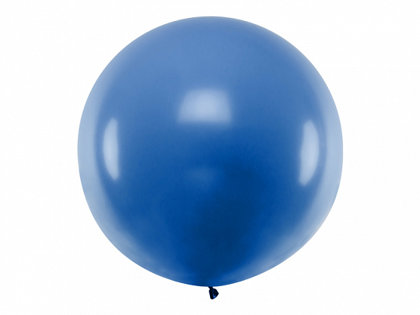 1 m balons, apaļš, zilā krāsa - 1 gb.