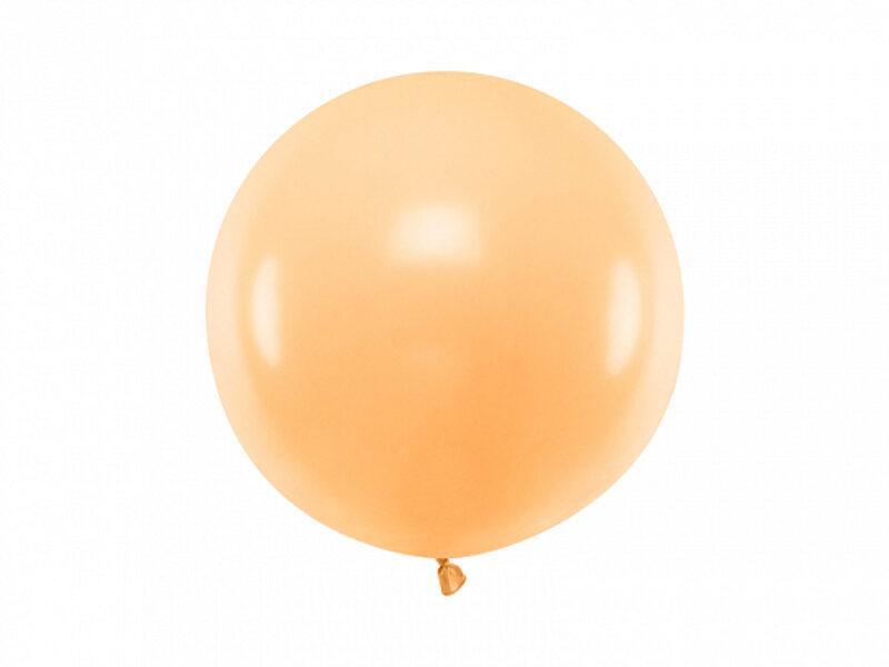 60 cm lateksa balons, persiku krāsa, pastelis - 1 gb.