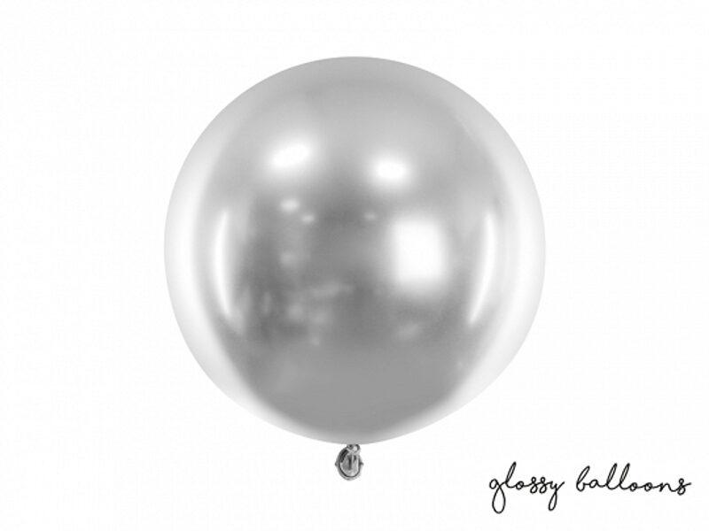 60 cm hromēts balons, sudraba krāsa - 1 gb.