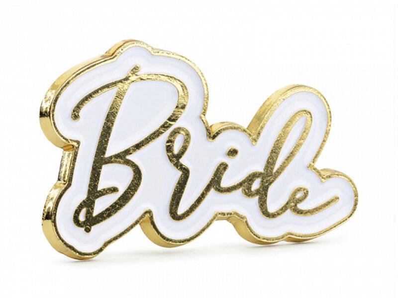"Emalja piespraude ""Bride"", 3.5 x 2 cm"