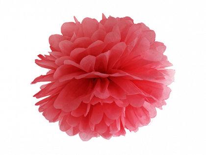 Zīdpapīra pompons, sarkans, 25 cm