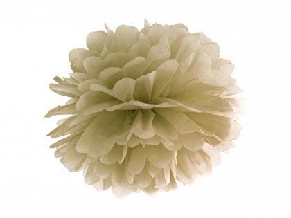 Zīdpapīra pompons, zelta, 25 cm