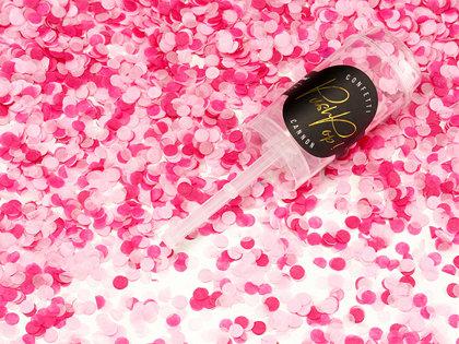 Plaukšķne Push Pop ar konfetti,rozā