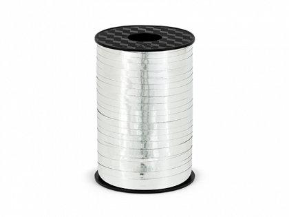 Plastikāta lente sudraba krāsā, metāliska, 5 mm, 225 m