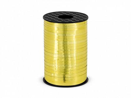Plastikāta lente zelta krāsā, metāliska, 5 mm, 225 m