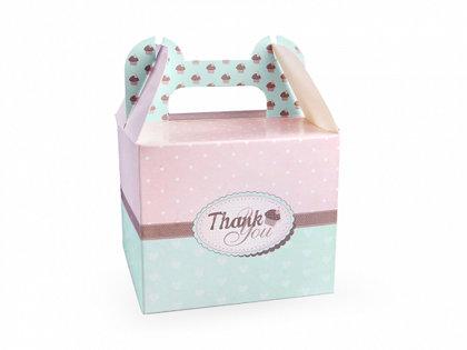 """Papīra dekoratīvas kastītes ar uzrakstu """"Thank You!"""" , 10 gb"""