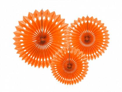 Dekoratīvās rozetes, oranžas, 3 gb