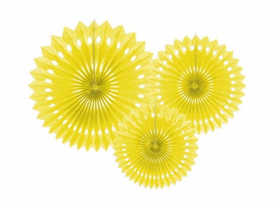 Dekoratīvās rozetes, dzeltenas, 3 gb