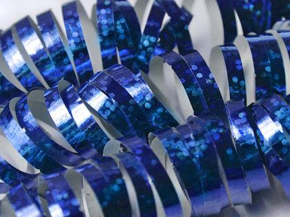 Hologrāfisks serpantīns, zils