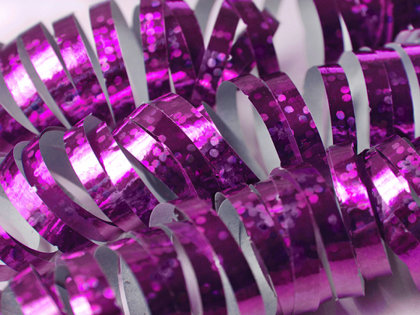 Hologrāfisks serpantīns, rozā