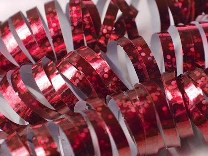 Hologrāfisks serpantīns, sarkans