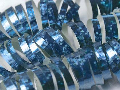 Hologrāfisks serpantīns, gaiši zils