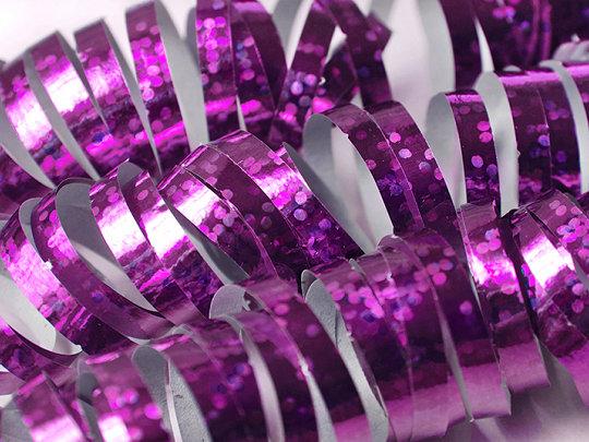 Hologrāfisks serpantīns gaiši rozā