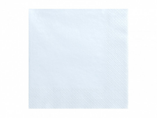 Vienkrāsainas salvetes, debess gaiši zilā krāsa, 33x33 cm, 3 slāņi, 20 gb