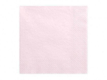 Vienkrāsainas salvetes, pūdera rozā krāsa, 20 gb, 33x33 cm, 3 slāņi